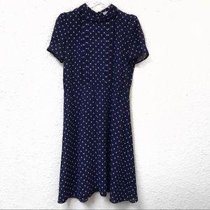 Jonathan Martin Vintage Navy Blue Dress #824